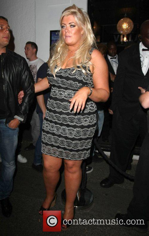 Gemma Collins leaves The Villa nightclub in Epping...