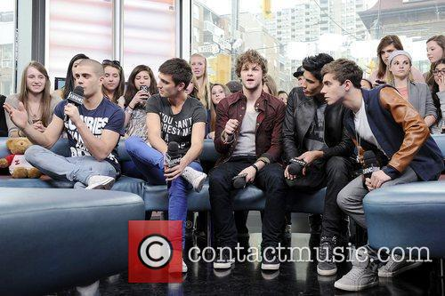 'The Wanted' visits MuchMusic's NEW.MUSIC.LIVE promoting their upcoming...