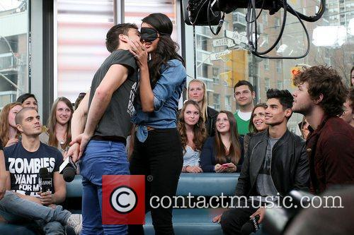 Tom Parker  kisses a female audience during...