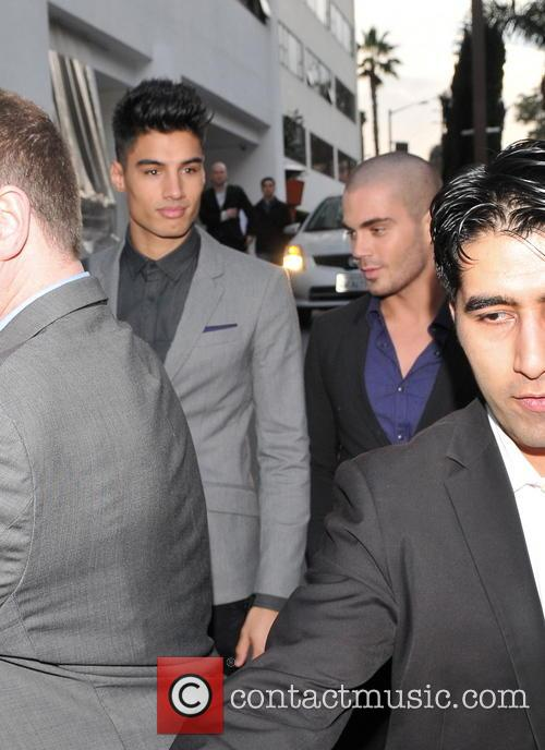 The Wanted leave their hotel in West Hollywood...