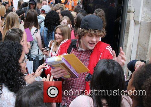 Jay McGuiness  The Wanted are greeted by...