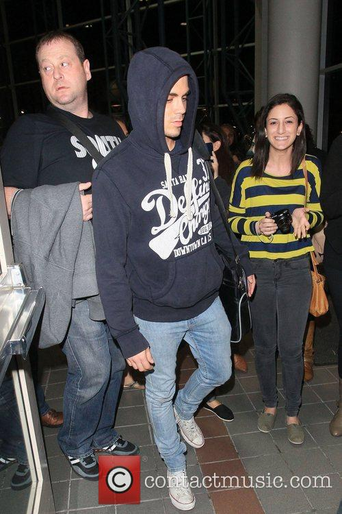 Max George British boy band The Wanted arrive...