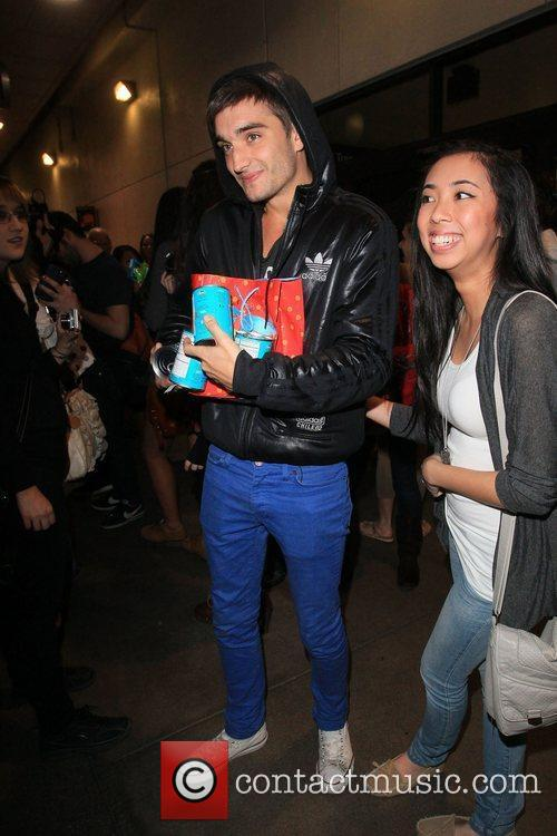 Tom Parker British boy band The Wanted arrive...