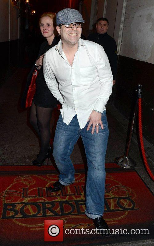 Simon Gregson The Wanted's end of tour party...