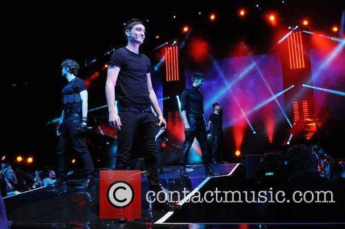 The Wanted performing at The 02 Arena London