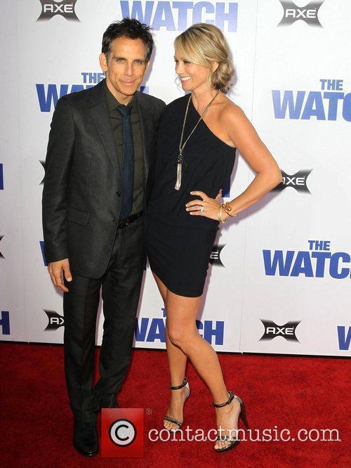 Ben Stiller, Christine Taylor Los Angeles premiere of...