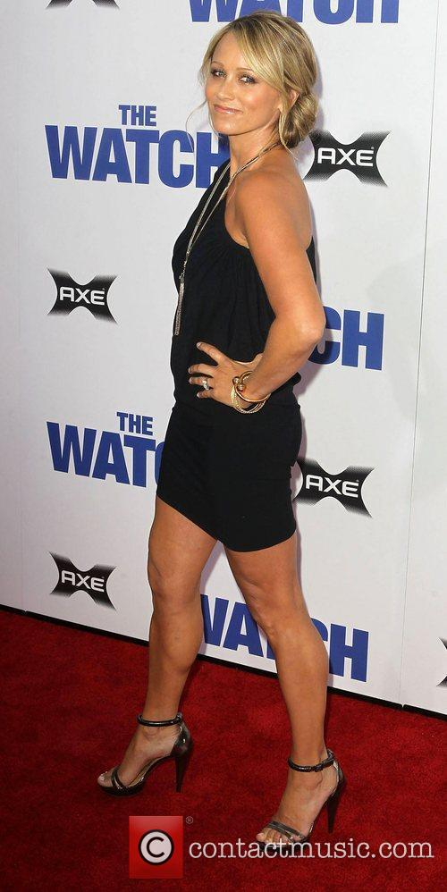 Christine Taylor Los Angeles premiere of 'The Watch'...