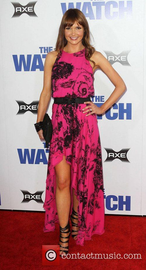 Valerie Azlynn Los Angeles premiere of 'The Watch'...