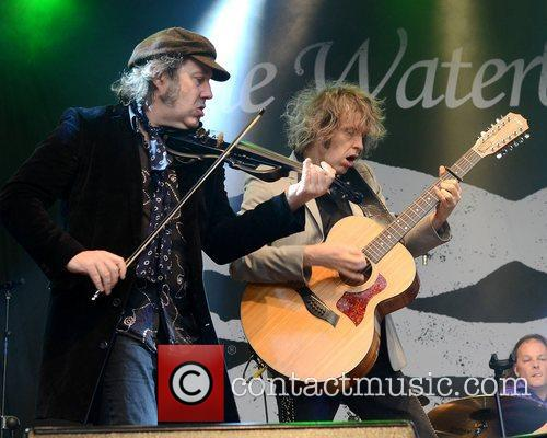Steve Wickham and Mike Scott The Waterboys perform...