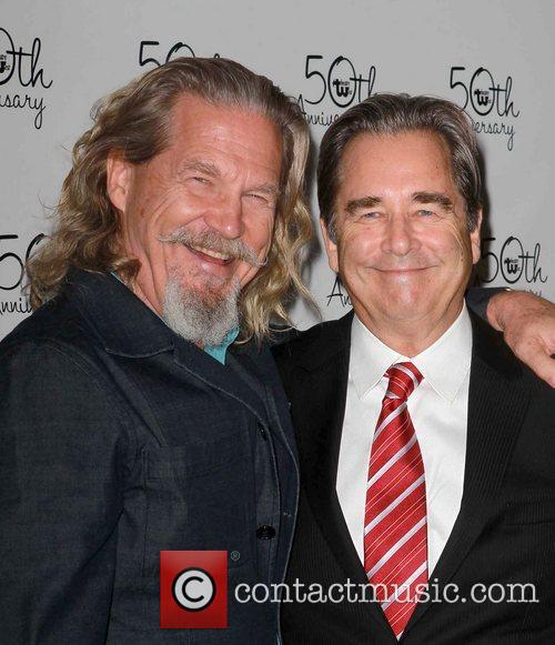 Beau Bridges and Jeff Bridges Celebrities attend Theatre...