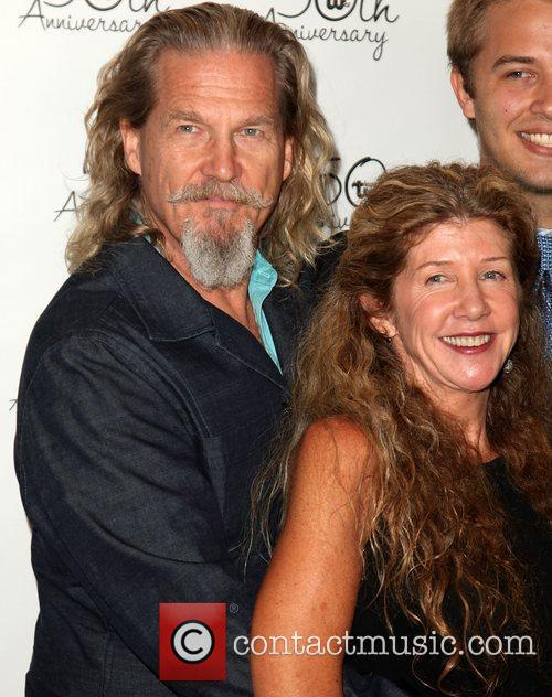 Jeff Bridges and Lucinda Bridges Theatre West 50th...