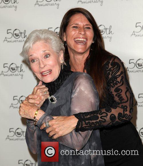 Lee Meriwether and Lesley Aletter Theatre West 50th...