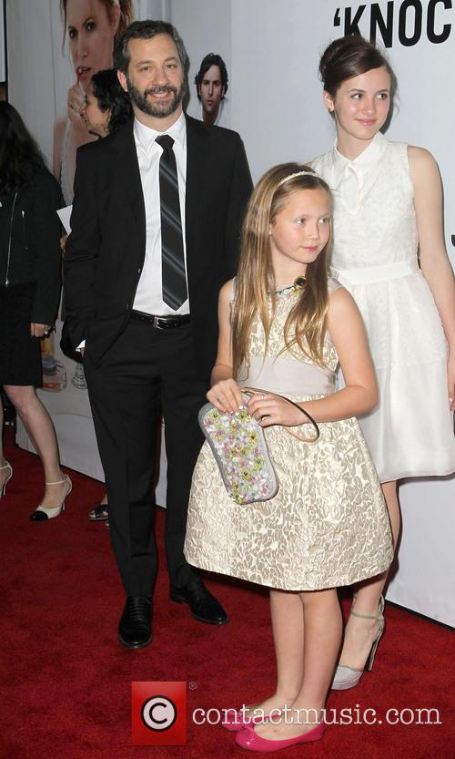 Judd Apatow, Maude Apatow, Iris Apatow, Grauman's Chinese Theatre and Leslie Mann 1