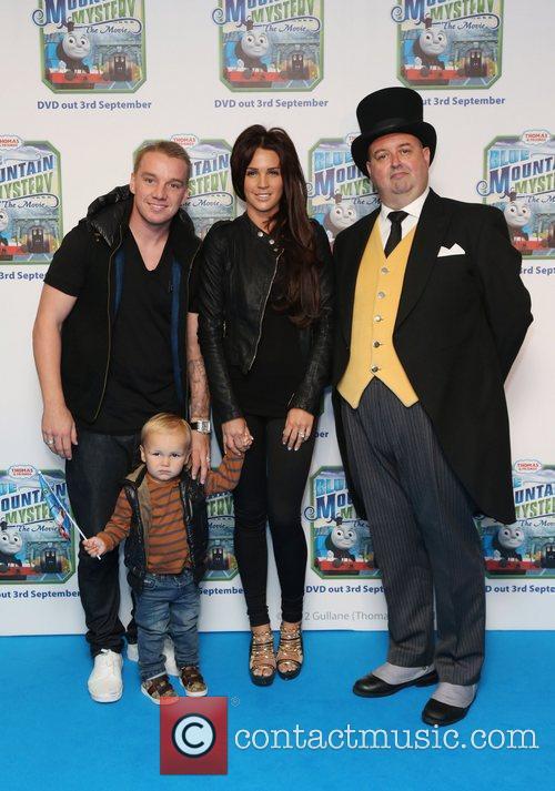 Danielle Lloyd, Jamie O'Hara and their son Archie...