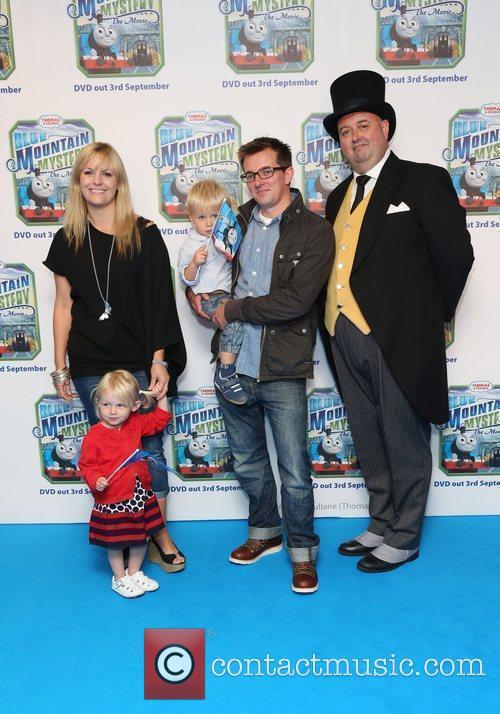 Jo Joyner with her husband and children Thomas...