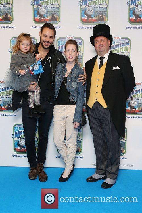 Katherine Ryan, husband and children Thomas & Friends...