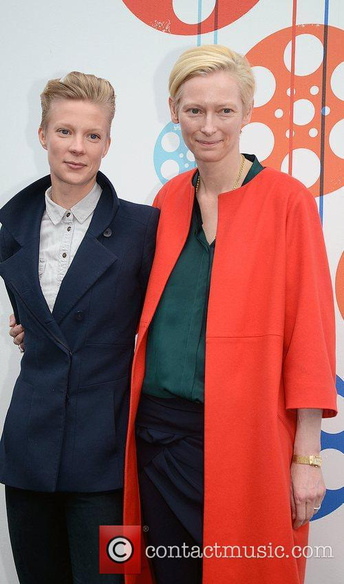 tilda swinton and maja borg at a 3958569