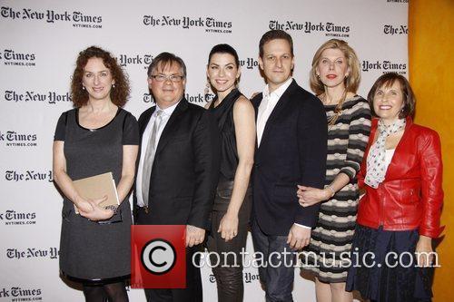 Robert King, Christine Baranski, Josh Charles and Julianna Margulies 2