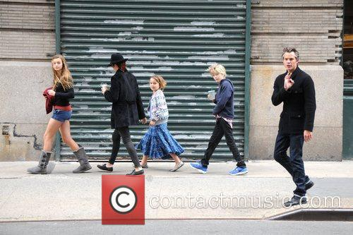 Actor Timothy Olyphant and family are seen walking...