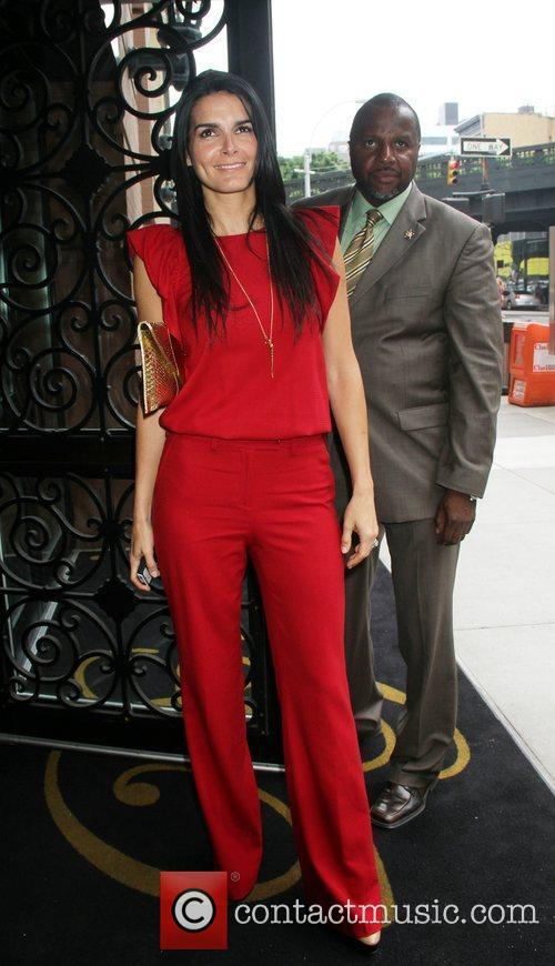 Angie Harmon TNT/ TBS Upfront 2012 lunch reception...