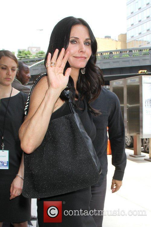 Courtney Cox TNT/ TBS Upfront 2012 lunch reception...