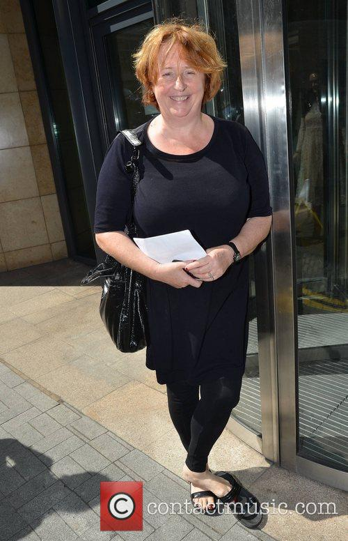 Mary Coughlan Guests outside Today FM Dublin, Ireland...
