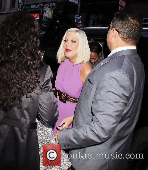 Tori Spelling Celebrities at NBC Studios for 'The...