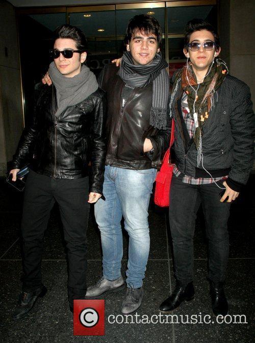 Il Volo Celebrities arrive at NBC Studios for...