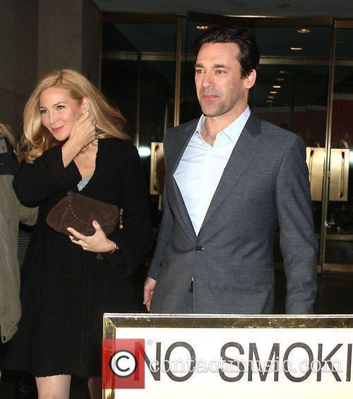 Jennifer Westfeldt, Jon Hamm Celebrities arrive at NBC...