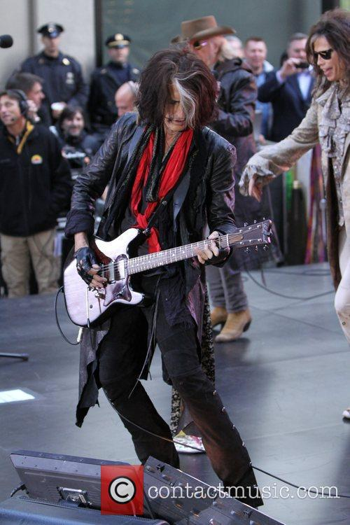 Joe Perry  Aerosmith performing live during the...