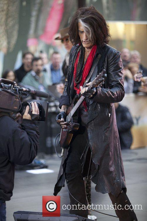 joe perry aerosmith performing live during the 4158085