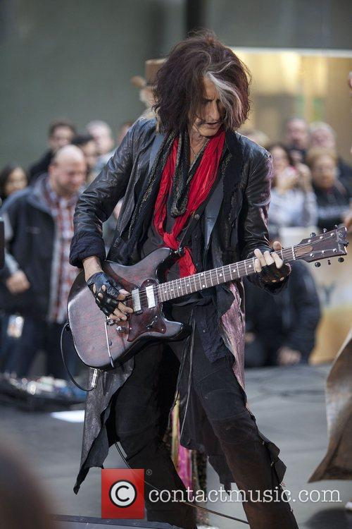 joe perry aerosmith performing live during the 4158096