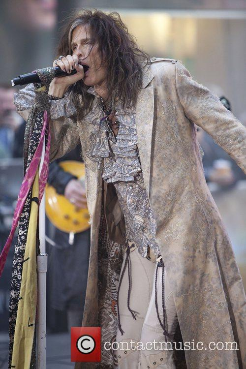 steven tyler aerosmith performing live during the 4158084