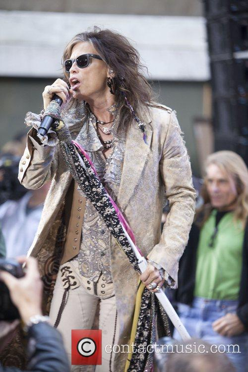 steven tyler aerosmith performing live during the 4158098