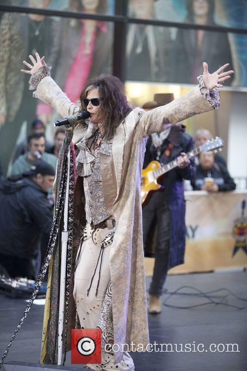 steven tyler aerosmith performing live during the 4158099