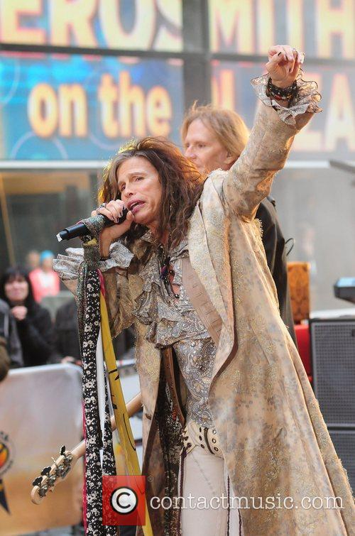 steven tyler aerosmith performing live during the 4158047