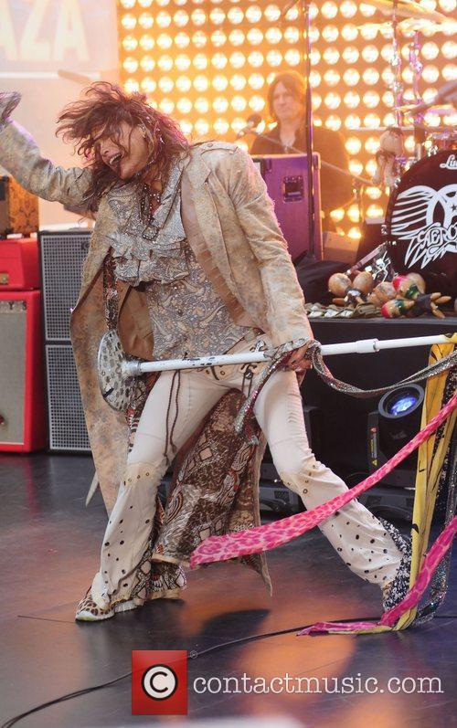 Aerosmith performing live during the 'Today Show' concert...