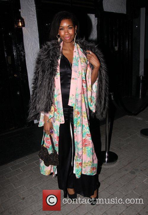 Tolula Adeyemi enjoys a night out in Mayfair