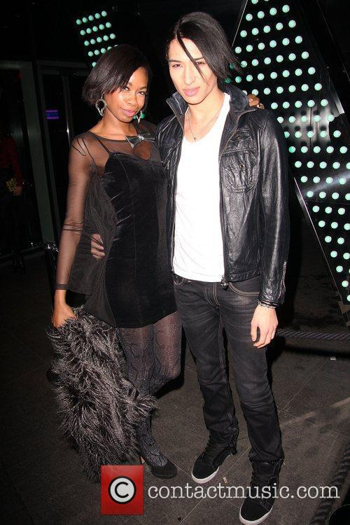 Tolula Adeyemi with Nat Weller at W Hotel....