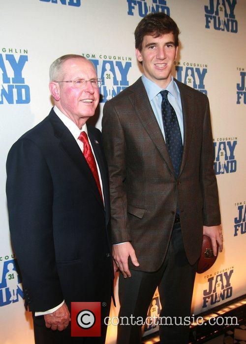 Tom Coughlin and Eli Manning attends The Eighth...