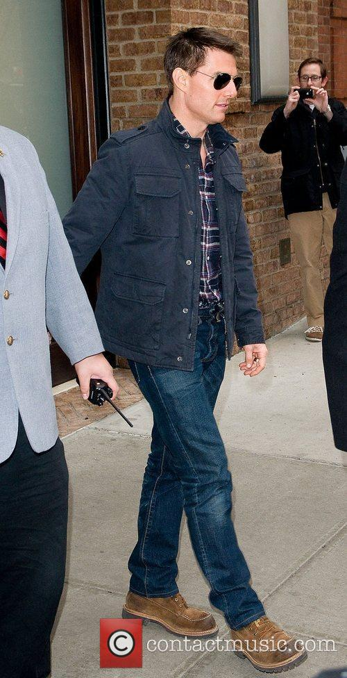 Tom Cruise leaving his Manhattan hotel.