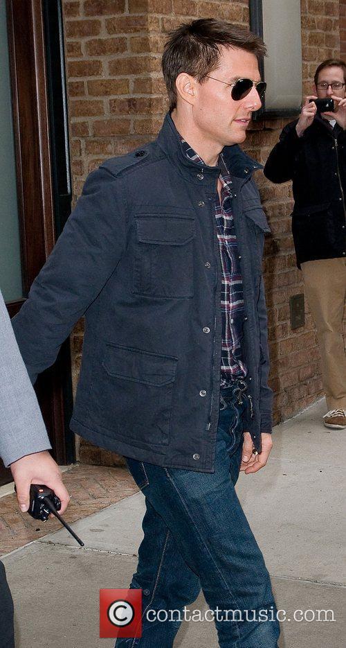 Tom Cruise leaving his Manhattan hotel. New York...