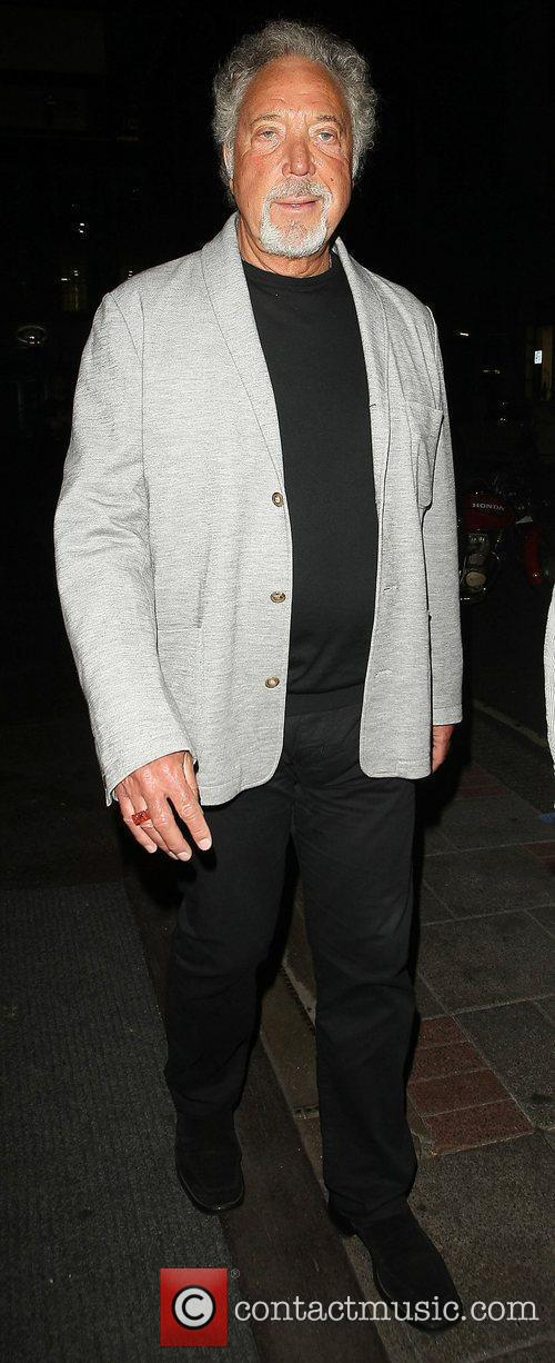 Tom Jones out and about in Mayfair wearing...