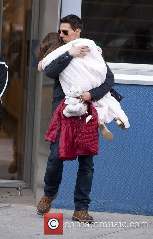 Tom Cruise and Suri Cruise Exiting Chelsea Piers...