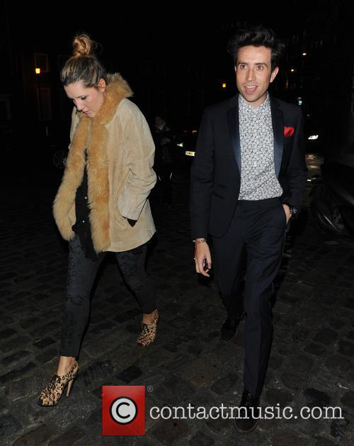 Nick Grimshaw Celebrities at the London Collections: Tommy...