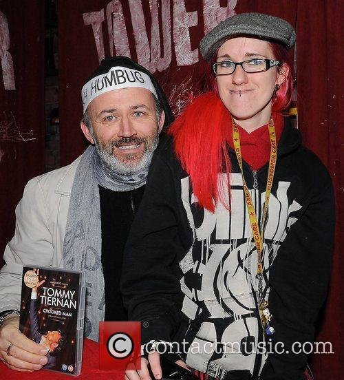 Tommy Tiernan and a fan Comedian Tommy Tiernan...