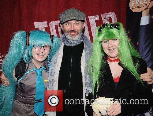 Tommy Tiernan and Fans Comedian Tommy Tiernan signs...