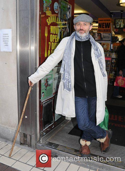 Tommy Tiernan arrives at Tower Records for his...