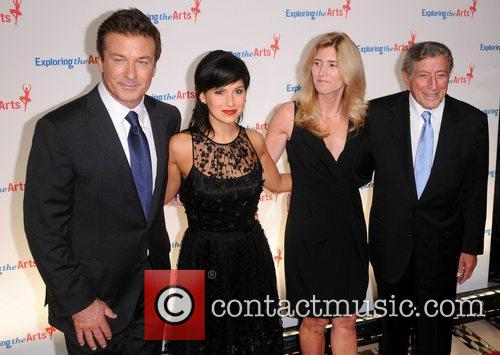 Alec Baldwin, Hilaria Thomas, Susan Benedetto and Tony Bennett 3