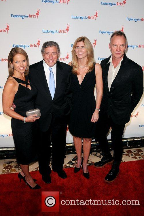 Katie Couric, Sting, Tony Bennett and Susan Benedetto 3